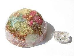 画像1: オルゴナイト Jewel*あじさい & エレスチャルクォーツ ダブルポイント
